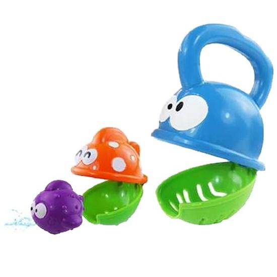 Gyermek fürdőjáték, vízi játék Baby Mix, egymasba rakható halacskák- CsimpiStore Webáruház
