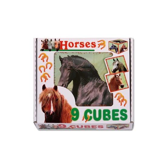 Fejlesztő műanyag képes kocka kirakós játék Lovacskák. - Csimpistore webáruház