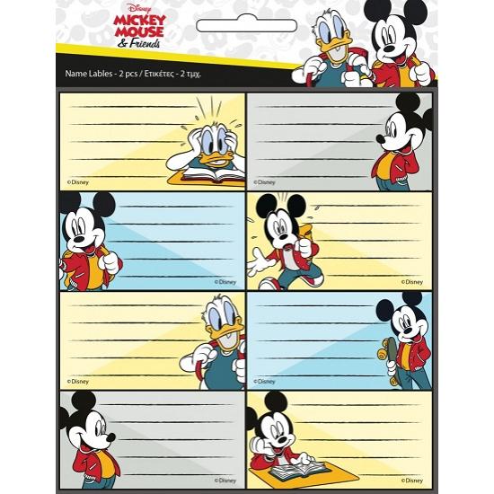 Disney Mickey füzetcímke 16 db-os - CsimpiStore webáruház