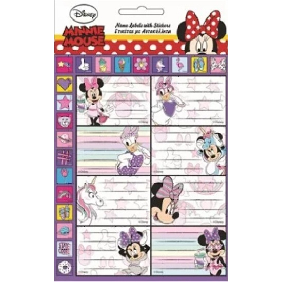 Disney Minnie füzetcímke 16 db-os- CsimpiStore webáruház