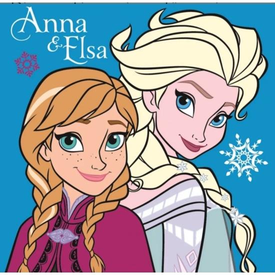 Disney Frozen, Jégvarázs párna, díszpárna Anna/Elsa kék 35*35 cm