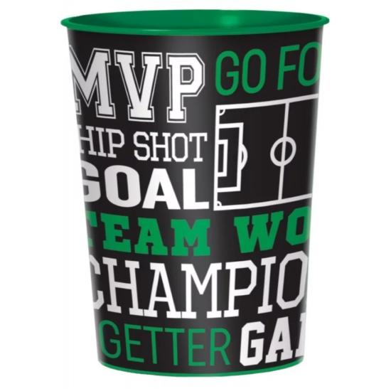 Football Goal, Focis pohár, műanyag 473 ml