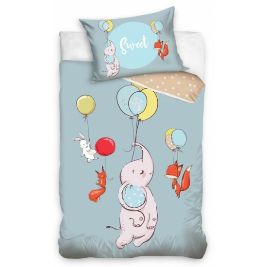 Állatok Gyerek ágynemű 100 × 135cm, 40 × 60 cm