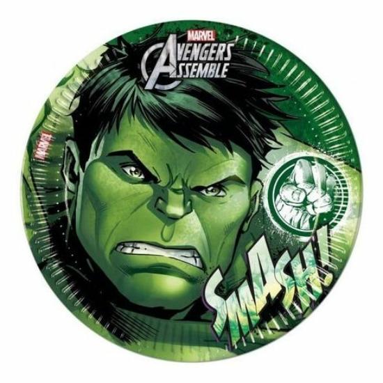 Bosszúállók, Hulk Papírtányér 8 db-os 19,5 cm - CsimpiStore Webáruház