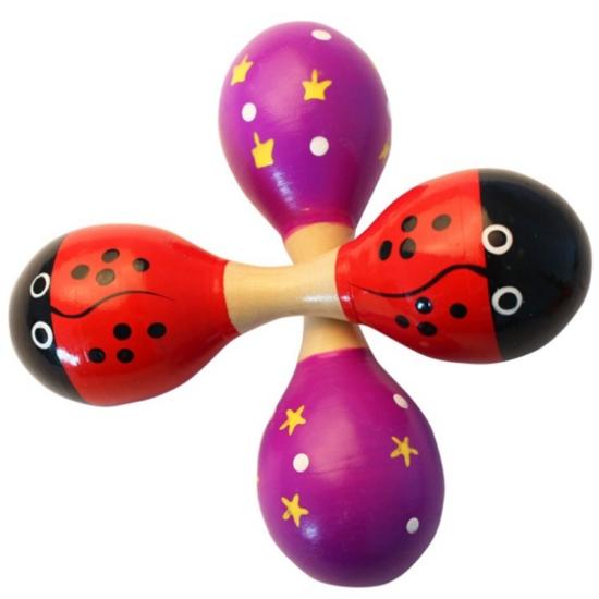 Dupla Rumbatök-Fejlesztő játék-Baba csörgő-Játék babáknak