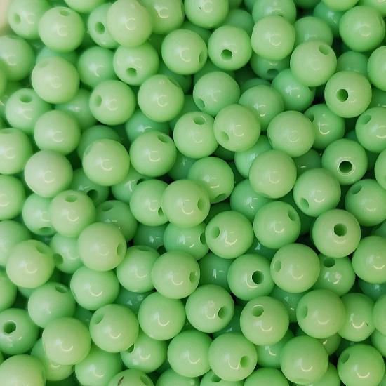 Zöld fényes 5mm-es dekor gyöngy készlet gyöngyfűzéshez-CsimpiStore webáruház
