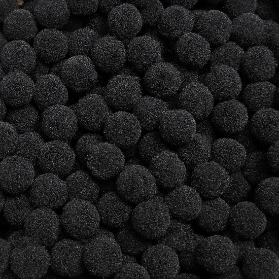 Pom-Pom, pompom fekete 1 cm-es 50db - CsimpiStore webáruház