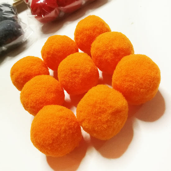 Pom-Pom Narancssárga 3 cm-es 9db/csomag- CsimpiStore Webáruház