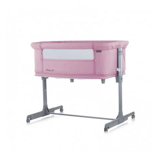 Chipolino Mommy 'n Me szülői ágyhoz csatlakoztatható kiságy - Pink 2020