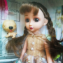 Kép 4/4 - Mulisha doll, Emily baba csillogó ruhában, kutyussal