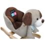 Kép 2/4 - Hintajáték dallammal PlayTo kutyus szürke-barna- CsimpiStore Webáruház1