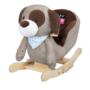 Kép 1/4 - Hintajáték dallammal PlayTo kutyus szürke-barna- CsimpiStore Webáruház