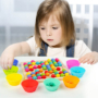 Kép 5/11 - Montessori Játékok Színes Gyöngyök - CsimpiStore Játék Webáruház4