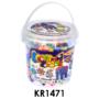 Kép 1/3 - Vasalós gyöngy készlet, 1000 darabos, óriás pótgyöngyök, 10x12 cm műanyag vödörben