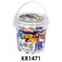 Kép 3/3 - Vasalós gyöngy készlet, 1000 darabos, óriás pótgyöngyök, 10x12 cm műanyag vödörben