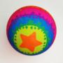 Kép 1/7 - Neon színű, mintás gumilabda többféle változatban 13,5cm - CsimpiStore Webáruház